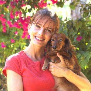 Monika Stefaniak with her dog Chewie
